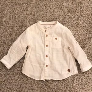 Zara baby boy shirt with buttons size 3-6 months
